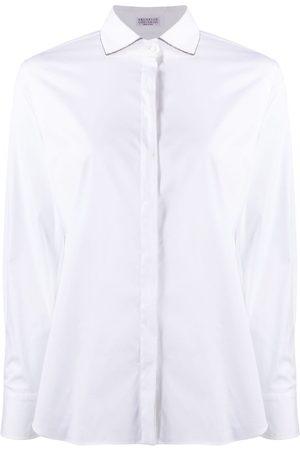 Brunello Cucinelli Mujer Camisas - Camisa con ribete de cadena Monili