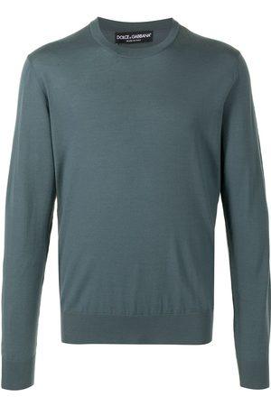 Dolce & Gabbana Hombre Suéteres - Suéter de tejido fino con cuello redondo