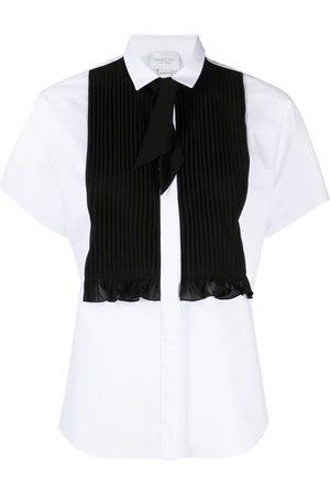 Giambattista Valli Camisa con detalle plisado