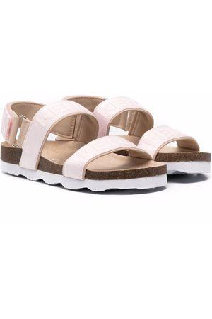 Kenzo Flip flops con logo estampado