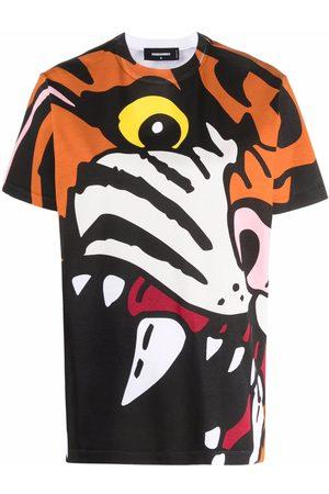 Dsquared2 Playera con estampado de tigre