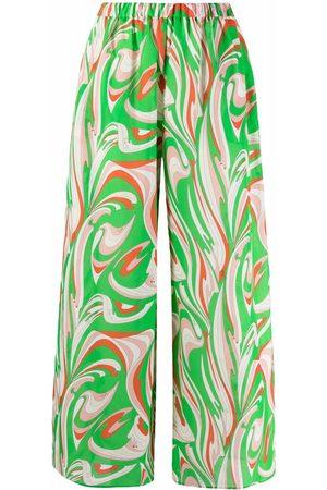 Emilio Pucci Graphic-print wide-leg trousers