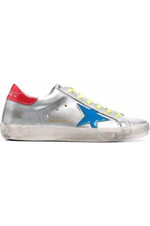 Golden Goose Super-star metallic-effect sneakers