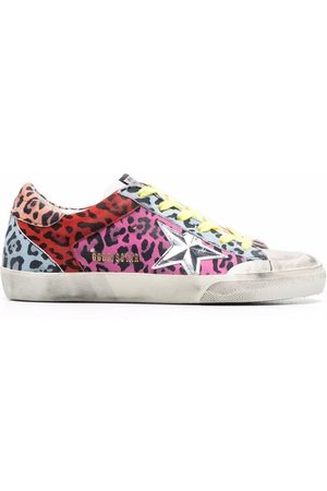 Golden Goose Super-star leopard-print sneakers
