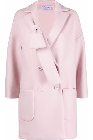RED Valentino Bow detail double-breasted coat