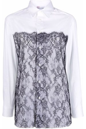RED Valentino Lace panel shirt