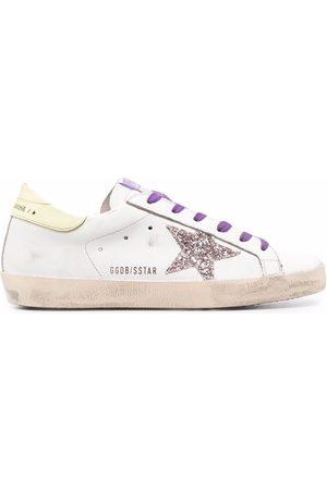 Golden Goose Superstar glitter-embellished sneakers