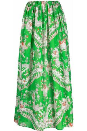 Emilio Pucci Graphic-print high-waisted skirt