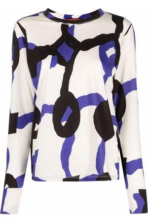 Colville Mujer Tops - Top con diseño colour block y estampado geométrico