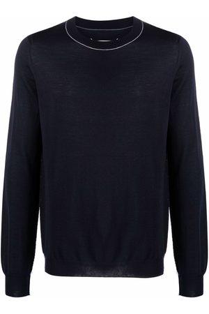 Maison Margiela Hombre Suéteres cerrados - Stripe-trim jumper