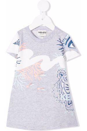 Kenzo Estampados - Tiger-print T-shirt dress