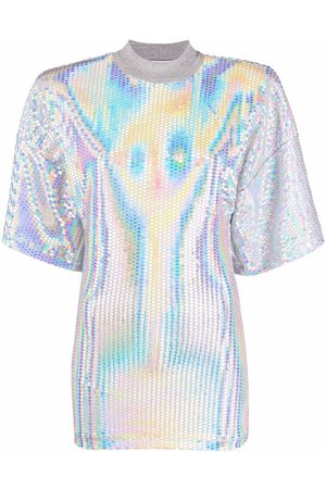The Attico Mujer Playeras - Holographic effect T-shirt