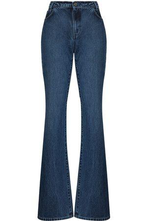 RAF SIMONS High-rise flared jeans