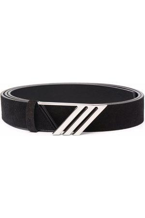 The Attico Mujer Cinturones - Logo plaque suede belt