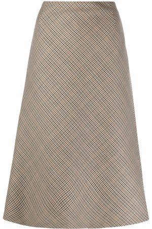 Maison Margiela Houndstooth-check A-line skirt