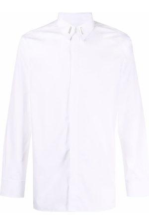 Givenchy Hombre Camisas - Logo-plaque cotton shirt