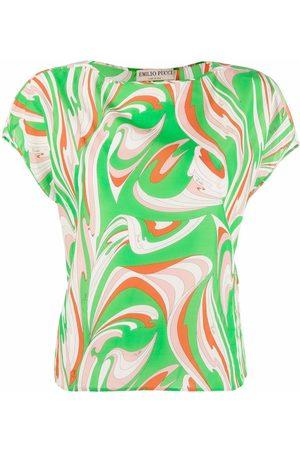 Emilio Pucci Mujer Playeras - Abstract-print cotton T-shirt