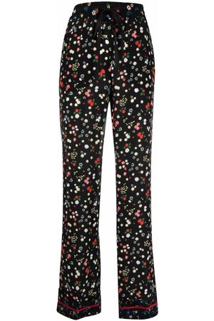 RED Valentino Mujer Pantalones y Leggings - Floral-print elasticated-waist trousers