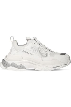 "Balenciaga Mujer Tenis - Sneakers ""triple S"" De Piel Sintética 60mm"