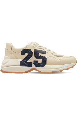 """GUCCI Hombre Tenis - Sneakers """"rhyton 25"""" De Piel Con Estampado"""