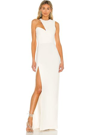 Amanda Uprichard Vestido largo gilda en color talla L en - . Talla L (también en XS, S, M).