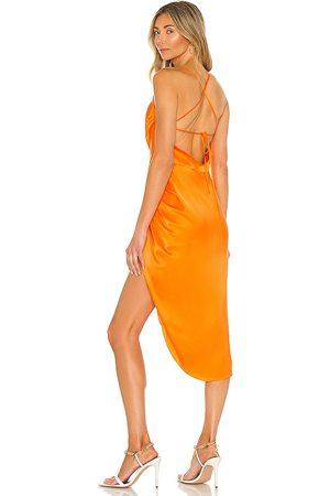 Amanda Uprichard Vestido jasalina en color naranja talla L en - Orange. Talla L (también en S, M, XS).