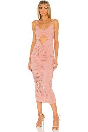 Michael Costello Mujer Midi - Vestido midi kara en color rubor talla L en - Blush. Talla L (también en XXS, XS, S, M, XL).