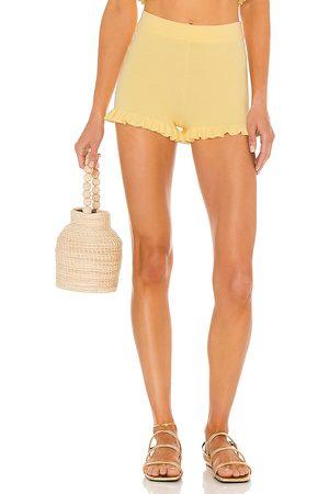 MAJORELLE Pantalones cortos de punto aiden en color amarillo limon talla L en - Lemon. Talla L (también en XS, S, M).