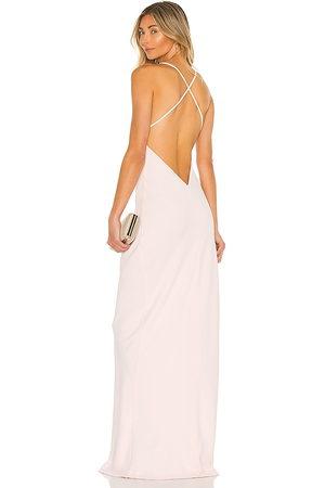 Amanda Uprichard Vestido largo lolita en color talla L en - Blush. Talla L (también en XS, S, M).