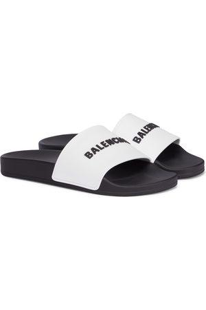 Balenciaga Mujer Planas - Logo rubber slides