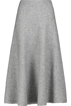BROCK COLLECTION Mujer Midi - High-rise wool-blend midi skirt