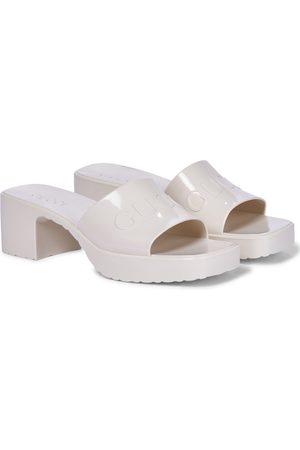 Gucci Mujer Sandalias - Logo rubber platform sandals