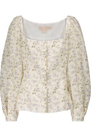 BROCK COLLECTION Mujer Blusas - Floral linen-blend blouse