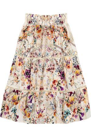 Camilla Embellished floral skirt