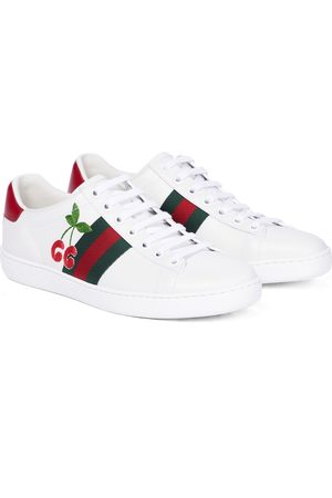 Gucci Mujer Tenis - Ace embroidered leather sneakers
