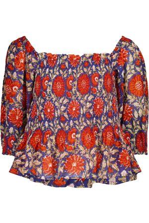 Velvet Corryn printed cotton top