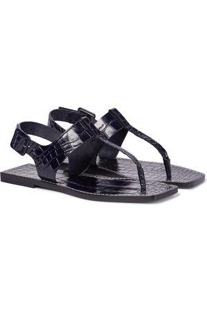 Christian Louboutin Cubongo croc-effect leather thong sandals