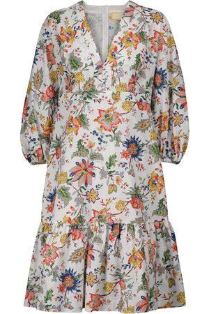 Erdem Vacation Formentera floral cotton midi dress