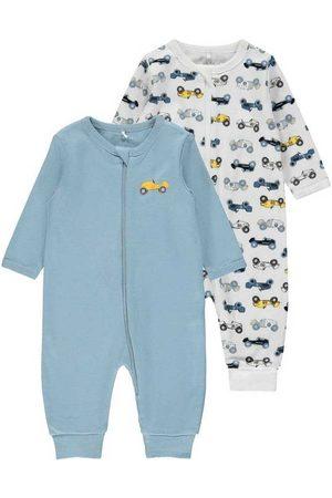 NAME IT Hombre Trajes - Night Suit Zip 2 Pack 50 cm Dusty Blue