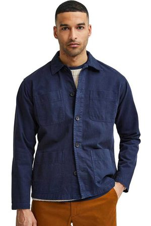 SELECTED Loose Tony Overshirt M Navy Blazer
