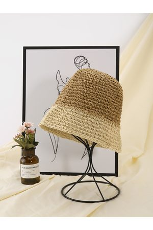 YOINS Mujer Sombreros - Simple Solid Straw Hat