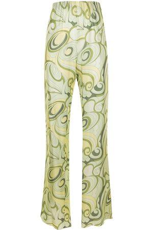 RAF SIMONS Mujer Pantalones y Leggings - Pantalones de seda con estampado Hippie
