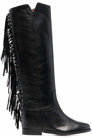 Via Roma Fringe-detail boots