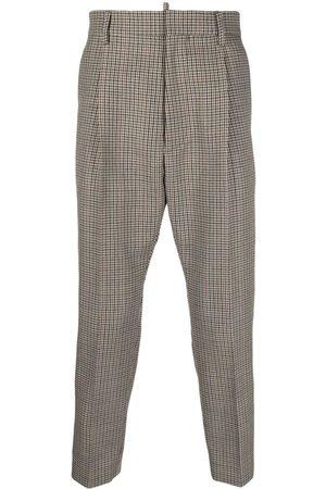 Dsquared2 Hombre De vestir - Pantalones de vestir con motivo pied de poule
