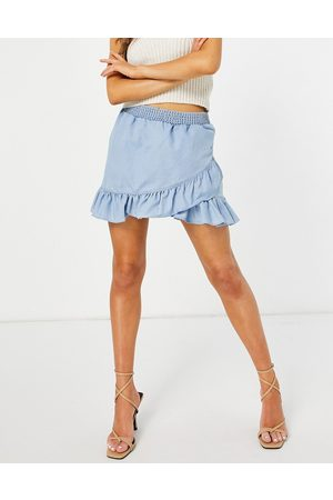French Connection Aves mini skirt in blue