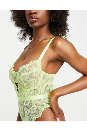 ASOS Fuller Bust Rosie lace underwired body in lime