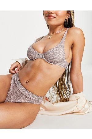 Rhythm Tigeria Xanadu bikini bottom in tiger print