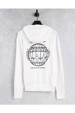 Tommy Hilfiger One Planet capsule unisex back print hoodie in white