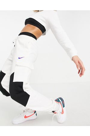 Nike Dance cargo pants in white and black