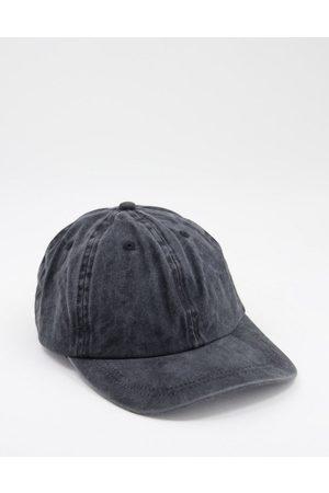 ASOS Baseball cap in washed black cotton
